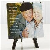 Memorial Photo Sentiments Tabletop Canvas Print- 5½ x 5½ - 14664-5x5