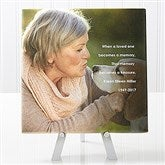 Memorial Photo Sentiments Tabletop Canvas Print- 8x8 - 14664-8x8