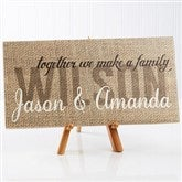 Together We Make A Family Personalized Canvas Print- 5½