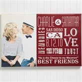 Our Life Together Personalized Photo Canvas Print- 12