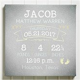 I Am Special Birth Info Personalized Canvas-8