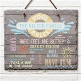 Water Rules Personalized Slate Plaque - 14689