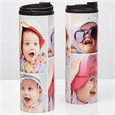 Photo Collage Personalized 16oz. Travel Tumbler- 4 photos - 14700-4