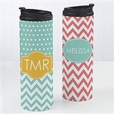 Preppy Chic Personalized 16oz. Travel Tumbler - 14702