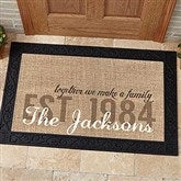 Together We Make A Family Personalized Doormat- 20x35 - 14705-M