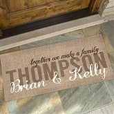 Together We Make A Family Personalized Oversized Doormat- 24x48 - 14705-O