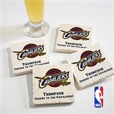 NBA Logo Personalized Tumbled Coaster Set - 14711