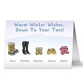 Warm Winter Wishes Personalized Christmas Card - 14713