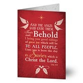 Glory To God Personalized Religious Christmas Cards - 14714