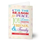 Season For Friends & Family Personalized Christmas Cards - 14720