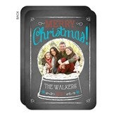Snow Globe Personalized Christmas Flat Card- Photo - 14722-P