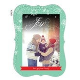 Falling Snowflakes Personalized Photo Cards - 14723
