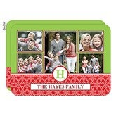 Holiday Monogram Personalized Photo Cards- 5 Photo - 14727-5
