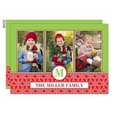 Holiday Monogram Personalized Photo Cards- 3 Photo - 14727-3