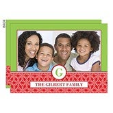 Holiday Monogram Personalized Photo Cards- 1 Photo - 14727-1