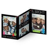 Holiday Excitement Personalized 3 Panel Photo Cards - 14728