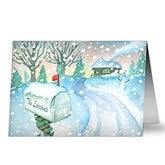 Enchanted Snow Escape Personalized Christmas Cards - 14735
