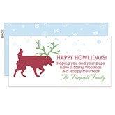 Happy Howlidays Pet Personalized Postcards - 14739