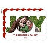 Holiday Joy Personalized Christmas Flat Card - 14740