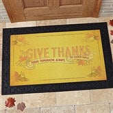 Give Thanks Personalized Doormat- 20x35 - 14748-M