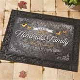 Haunted Halloween Personalized Doormat- 18x27 - 14749