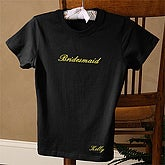 The Bridal Party Black Fitted Tee - Adult - 1475-B