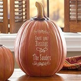 Count Your Blessings Personalized Pumpkins- Large - 14751-L
