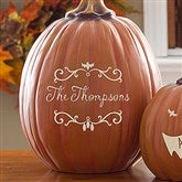 Bat Family Personalized Pumpkins- Large - 14752-L
