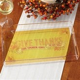 Give Thanks Personalized Serving Tray - 14754