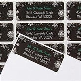 Falling Snowflakes Return Address Labels - 14767