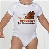 My First Thanksgiving Personalized Baby Bodysuit - 14782-CBB