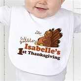 My First Thanksgiving Personalized Bib - 14782-BIB