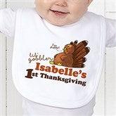 My First Thanksgiving Personalized Bib - 14782-BIB