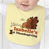 My First Thanksgiving Personalized Baby Bib - 14782-B