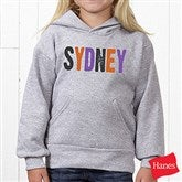 All Mine! Halloween Personalized Youth Hooded Sweatshirt - 14783-YHS