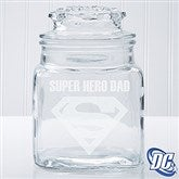 DC Comics® Superman Engraved Glass Jar - 14785