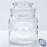 DC Comics® Batman Engraved Glass Jar - 14786