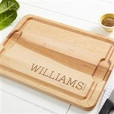 Family Name Established... Personalized Maple Cutting Board- 12x17 - 14787