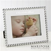 Mariposa® String of Pearls Personalized Baby Photo Frame - 14788