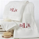 Divine Bamboo Embroidered 3pc Bath Towel Set- Monogram - 14798-M