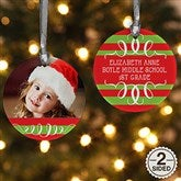 2-Sided Classic Christmas Photo Ornament - 14807-2