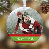 1-Sided Classic Christmas Photo Ornament - 14807-1