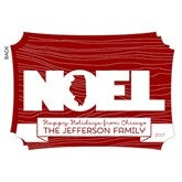 State Of Noel Personalized Flat Card - 14813