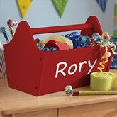 KidKraft Personalized Toy Caddy - Red - 14819D-R