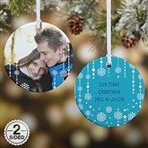 2-Sided Christmas Snowflake Personalized Photo Ornament - 14828-2