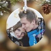 1-Sided Christmas Snowflake Personalized Photo Ornament - 14828-1