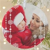 1-Sided Christmas Snowflake Personalized Photo Ornament-Large - 14828-1L