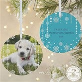 2-Sided Christmas Snowflake Personalized Photo Ornament-Large - 14828-2L