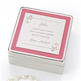 Passionately Pink Personalized Jewelry Box - 14830