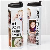 5 Photos Loving Message Personalized 16oz. Travel Tumbler - 14835